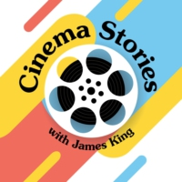 Logo of the podcast Cinema Stories with James King and Producer Phil
