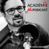 Logo of the podcast L'Académie du podcast avec Marco Bernard, formateur en podcasting