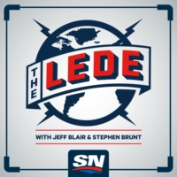 Logo of the podcast The Lede with Jeff Blair and Stephen Brunt