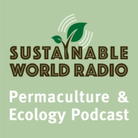 Logo of the podcast Sustainable World Radio- Ecology and Permaculture Podcast