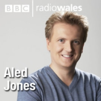 Logo of the podcast Aled Jones with special guest, writer Simon Brett.