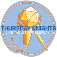 Logo of the podcast Thursday Knights Live Tabletop Roleplaying