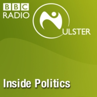 Logo du podcast We speak to DUP MP Emma Little-Pengelly and Green party MLA Stephen Agnew as the DUP and Conservati…