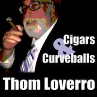 Logo of the podcast Dodgers president Stan Kasten with Thom Loverro