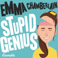 Logo of the podcast Stupid Genius with Emma Chamberlain