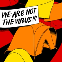 Logo of the podcast We Are Not the Virus