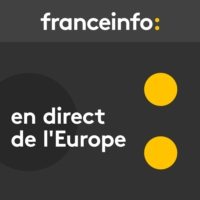 "Logo of the podcast En direct de l'Europe. Une défense pour une ""autonomie stratégique"" de l'Union"