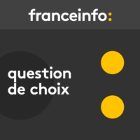 "Logo du podcast Question de choix. Des produits  ""Made in France"" qui viennent d'Inde ou de Serbie"