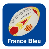 Logo of the podcast Lundi c'est rugby France Bleu Roussillon