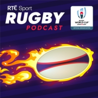 Logo of the podcast RTÉ Rugby World Cup Podcast