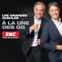 "Logo of the podcast RMC : 29/04 - A la une des GG : 1er mai, Paris ""capitale de l'émeute"""
