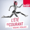 Logo of the podcast L'été en courant, pédalant, nageant.