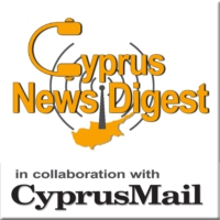 Logo of the podcast The Cyprus News Digest in collaboration with the Cyprus Mail