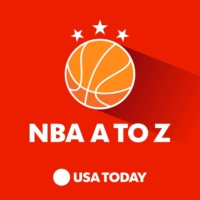 Logo of the podcast NBA A to Z with Sam Amick and Jeff Zillgitt