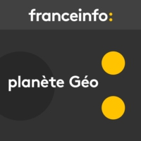 Logo of the podcast Planète Géo. Couleurs Pérou