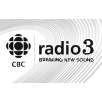 Logo of the podcast #355: CBC Radio 3 podcast with Louise Burns featuring You Say Party, Mu, and She-Devils