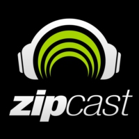 Logo of the podcast zipCAST presented by Nick Fiorucci