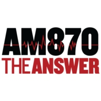 Logo of radio station KRLA AM 870 The ANSWER