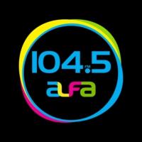 Logo of radio station XHMF Alfa 104.5 FM