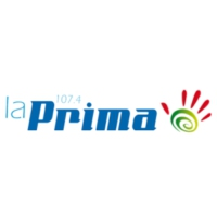 Logo of radio station La Prima 107.4