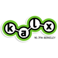 Logo of radio station KALX 90.7FM
