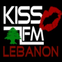 Logo of radio station Kiss FM Lebanon