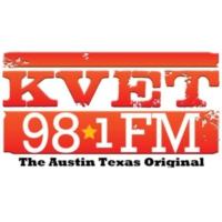 Logo of radio station 98.1 KVET-FM