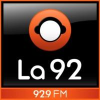Logo of radio station La 92 Bogotá