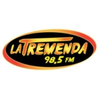 Logo of radio station XHSAP La Tremenda 98.5 FM