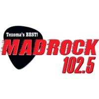 Logo of radio station KMAD Mad Rock 102.5