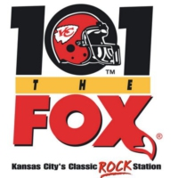 Logo of radio station KCFX 101 The FOX