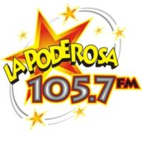 Logo of radio station XHMI La Poderosa 105.7 FM