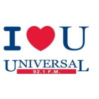 Logo of radio station XHFO Universal 92.1 FM