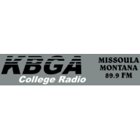 Logo of radio station KBGA University of Montanna