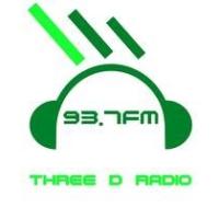Logo of radio station Three D Radion 93.7 FM