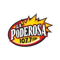 Logo of radio station XHYZ La Poderosa 107.7 FM