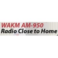 Logo of radio station WAKM AM-950