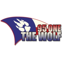 Logo of radio station KABW 95 ONE