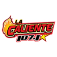 Logo of radio station La Caliente 107.1