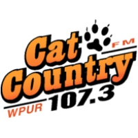 Logo of radio station WPUR Cat Country 107.3 FM