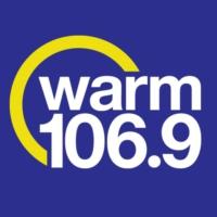 Logo of radio station KRWM Warm 106.9