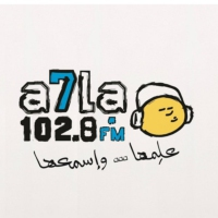 Logo of radio station A7la FM