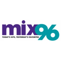 Logo of radio station KYMX MIX 96