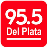 Logo of radio station Del Plata 95.5 FM