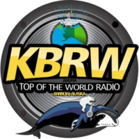 Logo of radio station KBRW