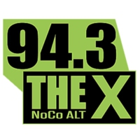 Logo of radio station KKQZ 94.3 THE X