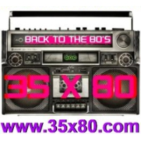 Logo de la radio 35x80 Back to the 80s