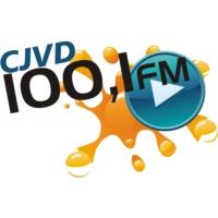 Logo of radio station CJVD 100.1 FM