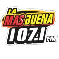 Logo of radio station La Más Buena 107.1 FM