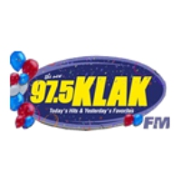 Logo of radio station KLAK 97.5